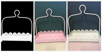 Rectangle White /Pink /Light Green/ Laser Cut Metal 1 Tier Cake Stand