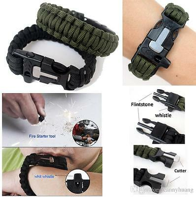 The BEST,Most Preferred, Paracord SURVIVAL Bracelet,with Fire Starter and more!