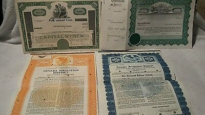 Vintage Old Stock Certificates