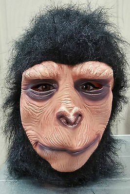 New Gorilla Full Head Ape Mask with Fur Latex Adult Mask BULK LOT OF 10