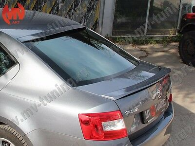 Spoiler RS Style and Rear Roof Window Spoiler Visor for Skoda Octavia A7 III