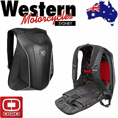 OGIO Mach 5 No Drag Stealth Motorcycle Backpack Black Luggage Carrier