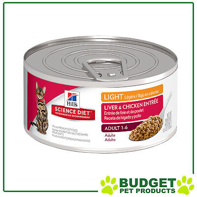 Hills Science Diet Feline Cans Light Liver And Chicken For Adult Cats 156gm x 24
