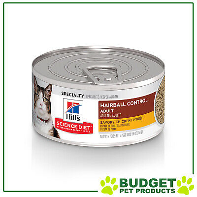 Hills Science Diet Feline Cans Hairball Chicken For Adult Cats 156gm X 24