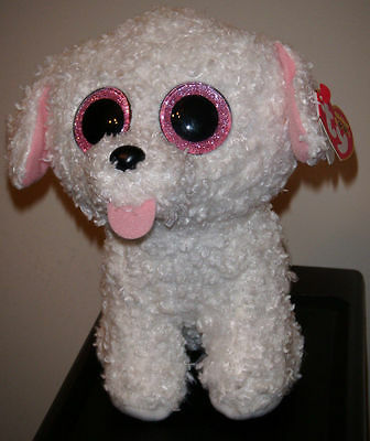 Pippie The White Dog Ty Beanie Boos  Brand New Release
