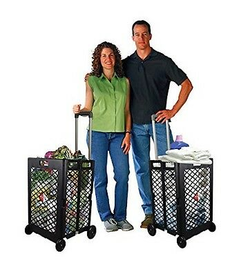 Grocery Shopping Cart On Wheels Folding Laundry Utility Storage School Personal