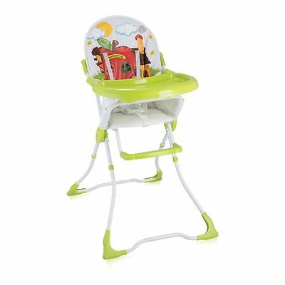 Lorelli Baby Feeding High Chair Seat Green Hedgehog Foldable Child Infant Boy