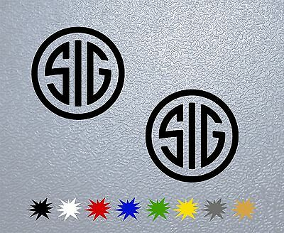 STICKER PEGATINA DECAL VINYL AUTOCOLLANT AUFKLEBER Circle Sig Sauer