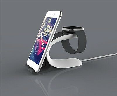 2in1 Charging Holder Stand Docking Cradle For Apple Watch iPhone 5 5S 6 6 Plus