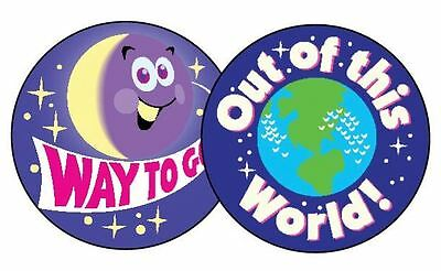 60 TREND Earth & Space (GRAPE) Scratch and Sniff reward Stickers n'