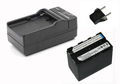High Capacity 6600MAH Battery+Charger for Led Video Camera light as Sony NP-F960