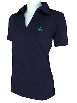 SPORTEQUE Ladies Bamboo Spandex Polo Shirt - Navy - ****ON SALE***RRP$59.95