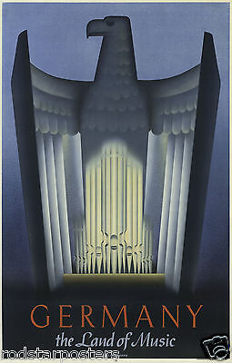 0451 Vintage Music Poster Art - Germany land Of Music
