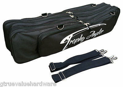 NEW Trophy Angler Extra Large DELUXE Ice Fishing Combo Case Holds 12 Rod combos