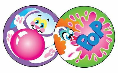60 TREND Blowing Bubbles (BUBBLE GUM) Scratch and Sniff reward Stickers n'