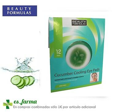 Beauty Formulas Pepino Parches Descongestionantes Refrescantes Ojos 12 Uds