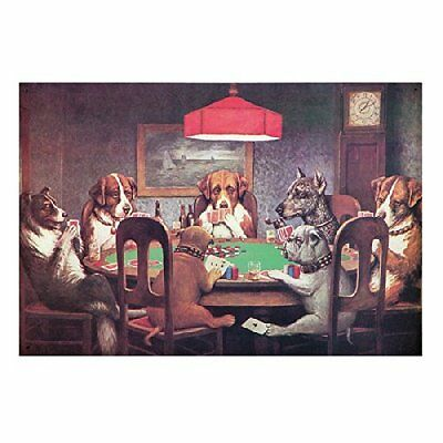 Dogs Playing Poker Metal Sign, New, Free Shipping
