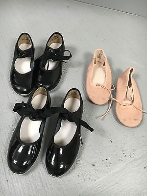 LOT: TEMPO BY LEO'S Tap Shoes And Ballet Shoes SZ 9 1/2 M (4 Pairs Total)