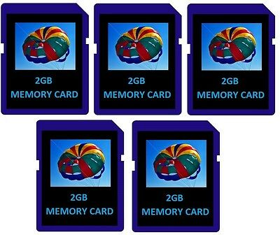2GB SD Flash Memory Cards - 5 Pack for Digital Cameras/Trail Camera