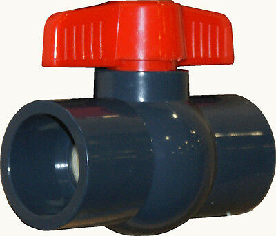New Sch 80 Pvc 1 Inch Compact Ball Valve Grey Socket Connect New Sch 80 Pvc