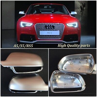 NEW audi A5 S5 RS5 2009-2016 chrome aluminium wing mirror covers - OEM fit