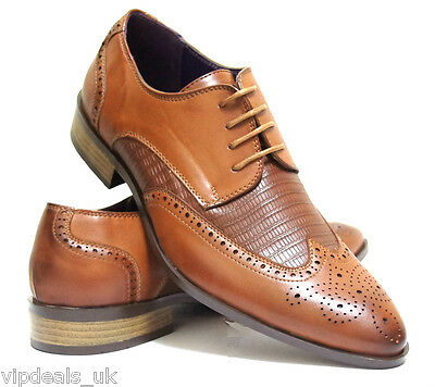 New Mens Casual Formal Wedding Lace Up Designer Brogue Fashion Shoes Size 6 11