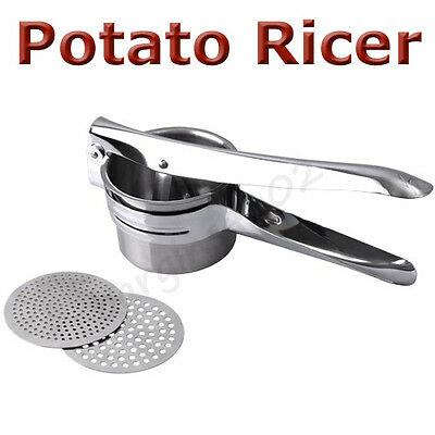 Stainless Steel Potato Ricer Masher Food Mill Fruit Juicer Vegetable Press - New