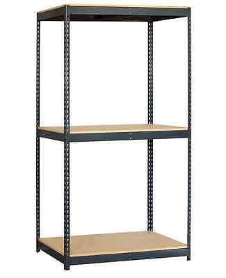 New Salsbury 48x84x24 Steel Particleboard Shelving Unit System Home & Commercial