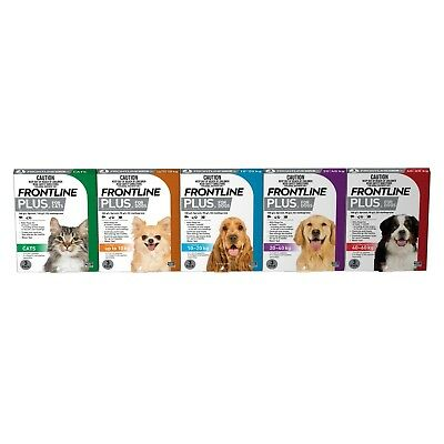 Frontline Plus for Dogs Flea and Tick Control for Dogs & Cats of all Sizes