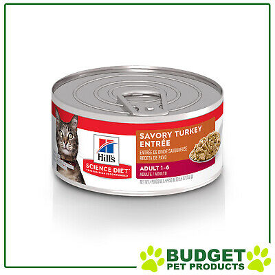 Hills Science Diet Feline Cans Turkey For Adult Cats 156gm X 24