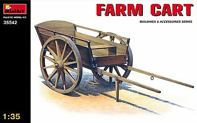Miniart 35542 1/35 Scale Plastic Model Kit Farm Cart For Diorama