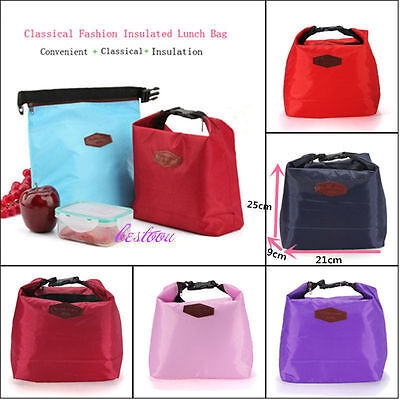 Thermal Insulated Cooler Waterproof Lunch Tote Storage Picnic Pouch Bag HC