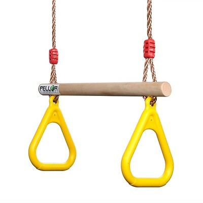 Kid Gym Rings Swing Trapeze Child Pull-up Strength Training Hanging Fitness Gift
