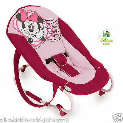 New Hauck Disney V Minnie Mouse Pink Baby bouncer rocky bungee