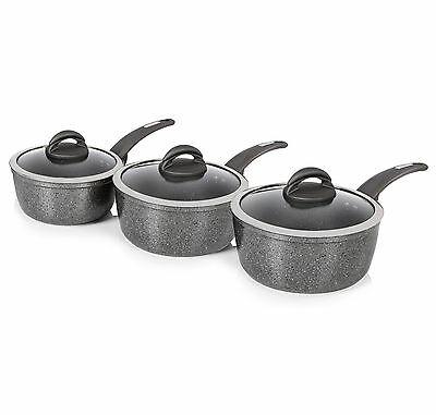 Tower T81212 3pc Forged Aluminium Ceramic Coated Non Stick Pan Set - Brand New