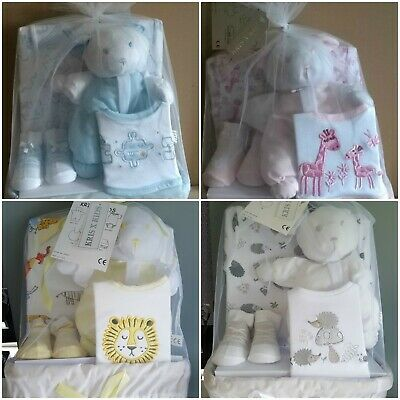 Newborn / New Baby Boy,Girl,Gift Wicker Basket Hamper Set Baby Shower Present