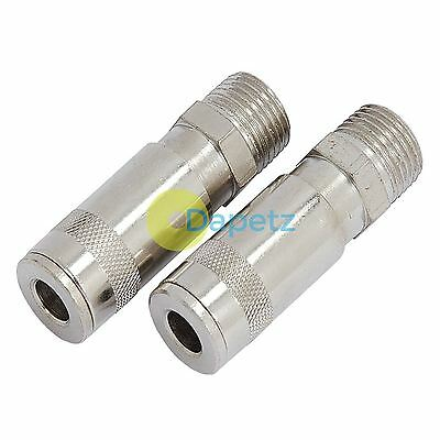 Air Line Hose Connector Fitting Male Quick Release 1/2 inch BSP Male 2pk