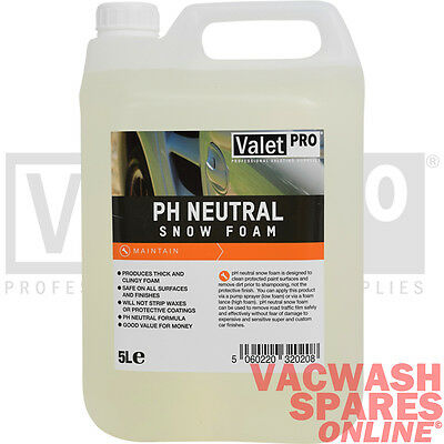 Valetpro Ph Neutral Snow Foam 5 Litre / Wash / Valeting / Detailing / Maintain