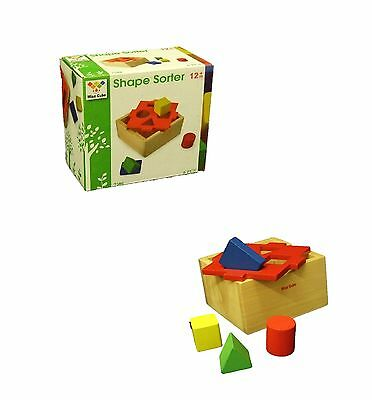 Children Wooden Shape Sorter Sorting Blocks Box Kids Educational Puzzle Toy