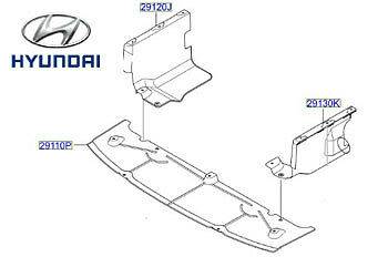 Genuine Hyundai i10 Engine Undertray - 29110B9000