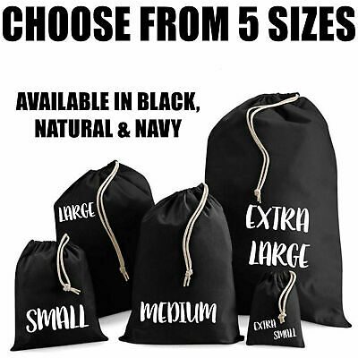 Strong Cotton Drawstring Bag Toiletry Travel Wash Home Storage Laundry Gym PE