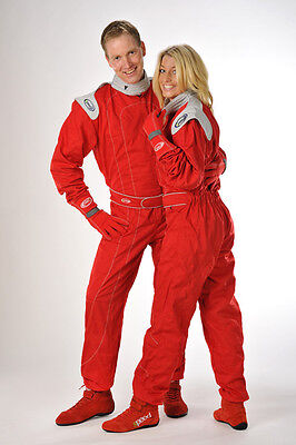 Speed Kart Overall Rot/Grau - Kartoverall - Red Racing Suit - Combinaison Rouge
