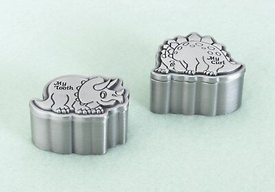 Dinosaur Pewter Tooth & Curl Box