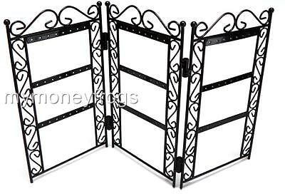 Metal Screen Rack Earring Desk Table Top Jewelry Organizer Holder Stand Display