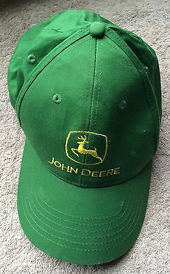 John Deere Embroidered Hat Logo Green Yellow Baseball Cap SnapBack Tractor Lawn