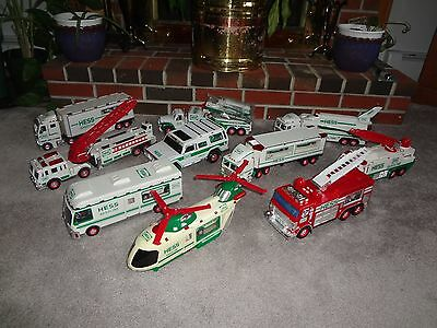 Hess Trucks (10 in all) variety 1996 - 2005