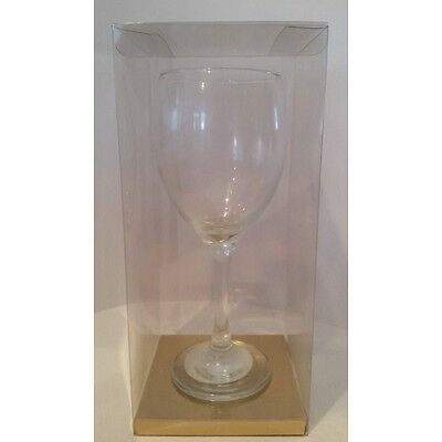 Luxury Transparent PVC Acetate Wine Glass Gift Box for Wine Glass 100x100x190mm