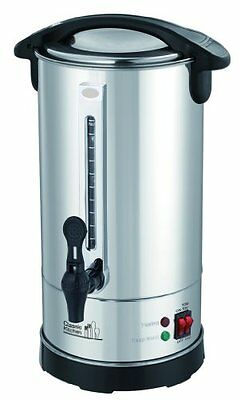 40 Cup Stainless Steel Double Wall Insulated Hot Water Urn - Water Boiler with H