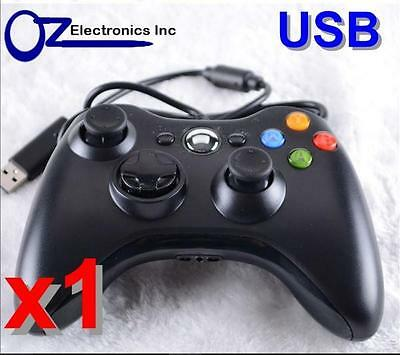 Xbox 360 Black Wired Game Pad Controller For XBOX 360 and  PC USB FREE SHIPPING