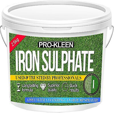 2.5Kg Iron Sulphate Killer Miracle Evergreen Grass Moss Greener Lawn Food Feed